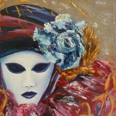 chantal szymoniak chantal geyer peinture a l huile carnaal masque peinture venise